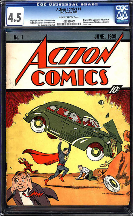 Currently, Action Comics #1 (like the one above) is one of the most expensive comics out there.  Find out which other comics - and pieces of comic art - are the most valuable to collectors (and how they got that way) over @ Underwire.