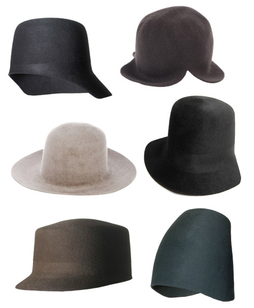 Scha Hats by Ewa Kulasek via sc101: not an umbrella