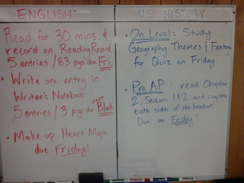 Block Day 9/5/12-9/6/12 HW: Grade-Level History: Study for your Quiz on Friday Pre-AP History: Workbook pages due Friday! ELA: Read and Write! Heart Map Do-overs are due Friday!
