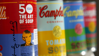 "Campbell's Soup Creates Limited-Edition Andy Warhol CansMarks 50th anniversary of artist's Campbell's work Campbell's is releasing four limited edition cans in the celebration of the fiftieth year since Andy Warhol first displayed his 32 Campbell's Soup Cans. The brand asked fans on facebook, ""How do they look?"" Well, they look awesome and with the approval from The Andy Warhol Foundation they will go on sale at Target, for 75 cents each, starting September 2nd. Is anyone else super excited for these? [via brandflakes for breakfast]"