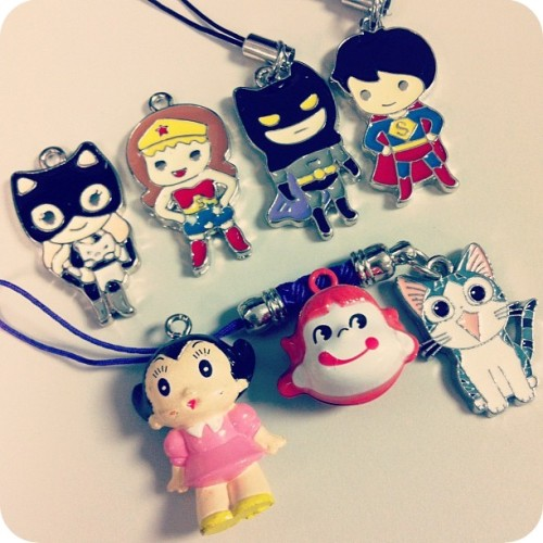 bettyfelon:  Some charms that I found in New York. Side note: Catwoman & Wondy were acquired earlier this year - I just never got around to photographing them until now~  Check out these cute DC Comics-inspired charms that I found in NY Chinatown! Totes putting these on a charm bracelet~