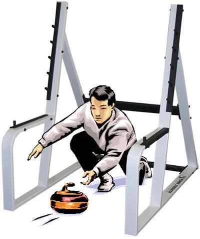 Curling in the squat rack. See how ridiculous someone looks when they're doing that? Don't be that person.