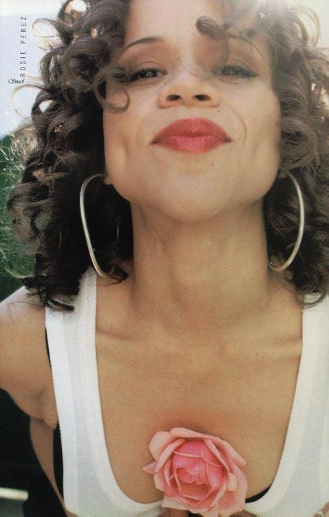 "oldfilmsflicker:  Happy Birthday Rosa María ""Rosie"" Pérez (born September 6, 1964)"