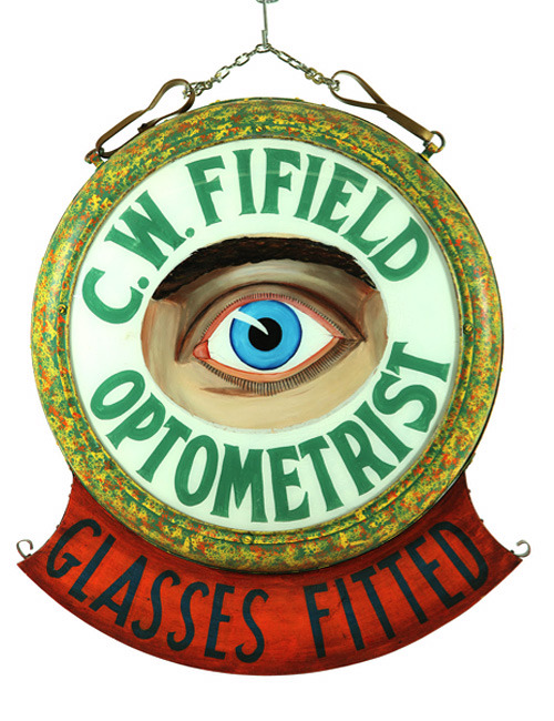 c86:  19th Century Optometrist Sign via Anonymous Works