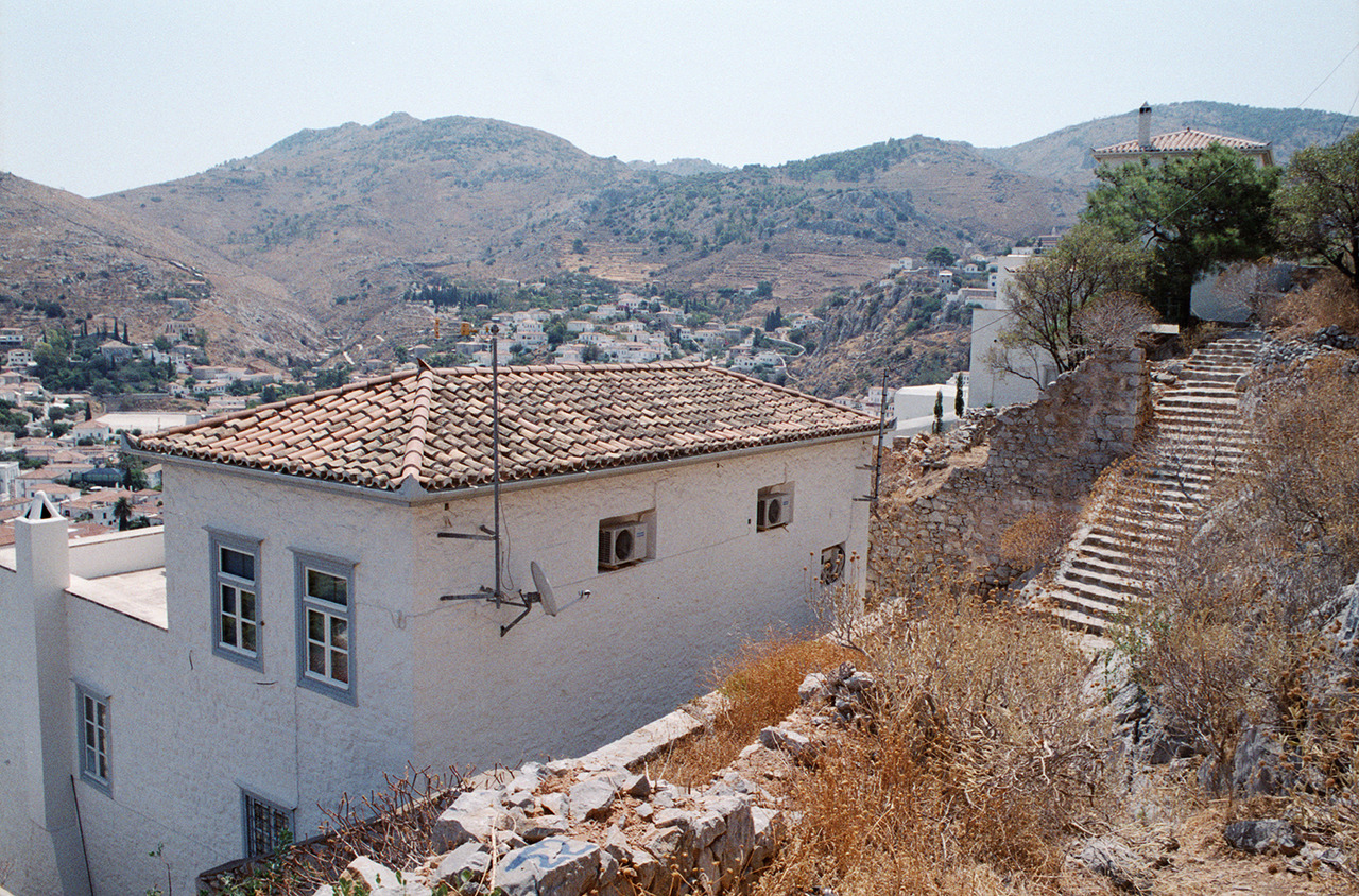 thisriver:  The backs of houses in Hydra, Greece