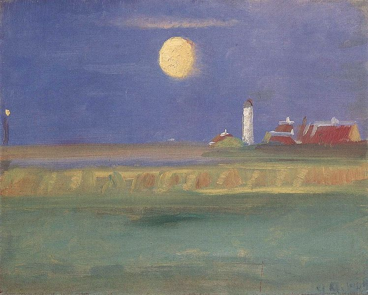 "Anna Ancher (Danish 1859–1935) - ""Moon Evening. Lighthouse"""