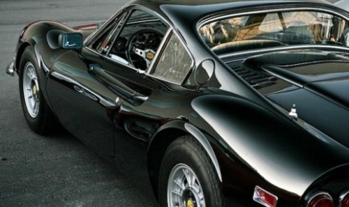 A rather lovely Dino 246 GT in black