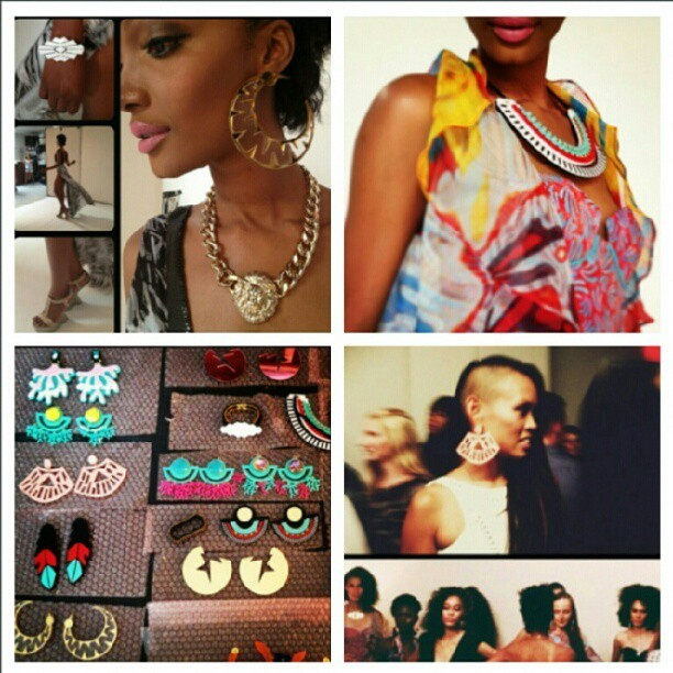 Recap of Anya's runway show last night featuring M.E. Jewelry #melodyehsani #NYFW  (Taken with Instagram)