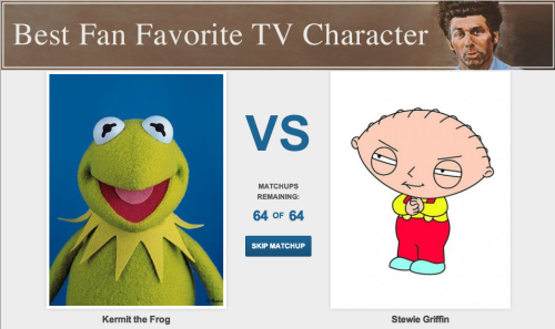 Vote now for the 'Best Fan Favorite TV Character' They say TV makes you stupid, so quickly, use your last remaining brain cells to rank its stars. The official voting period ends Saturday September 8, 2012 at 12:00AM so get your votes in now.