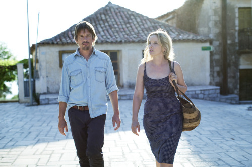 The first production still from Richard Linklater's Before Midnight, the nine-years-later follow up to Before Sunrise and Before Sunset. i.e. LET ME FILL YOU WITH MY FEELINGS YOU ARE MY DENSITY.