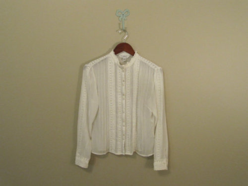 vintage sheer lacy button down, 1990s