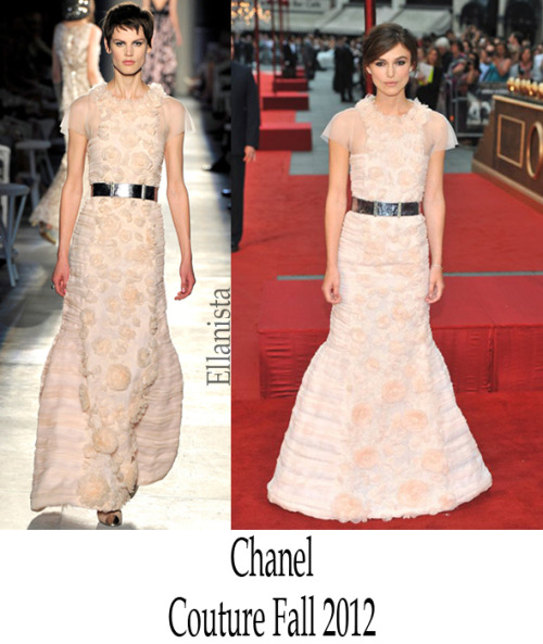 Red Carpet Fashion  Keira Knightley wows in a Chanel Haute Couture dress to the 'Anna Karenina' London premiere.