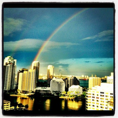 #sunset #rainbow #colors #miami #view #buildings #instacool #friends #fall #afternoon #sky    (Taken with Instagram)
