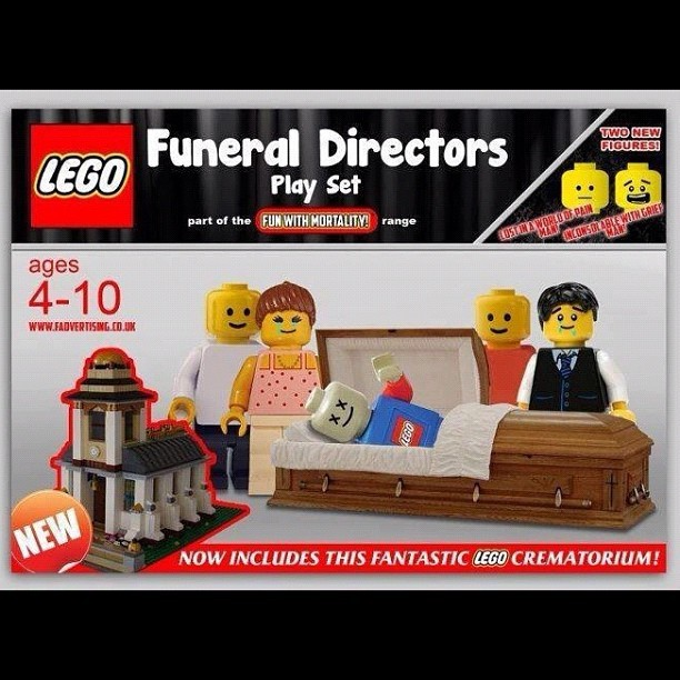 #Lego #funeraldirectors #toys #blocks #funeral #cremation #embalming #death #dead #cemetery #mortality #casket (Taken with Instagram)