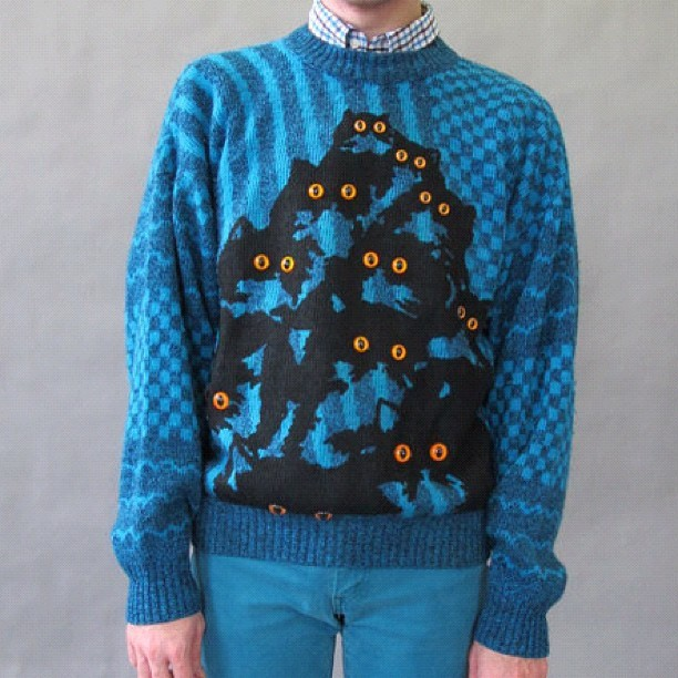 Meowwww! Guys kitty sweaters just posted at www.prettysnake.etsy.com #cats #catstagram #kitty #kittysweater #catsweater #etsy #joesegal #jumper #kittyjumper #catjumper #sherlock  (Taken with Instagram)