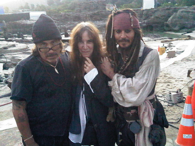 Jonathan Shaw, Patti Smith e Johnny Depp by Johnny Depp Forever Blog on Flickr.
