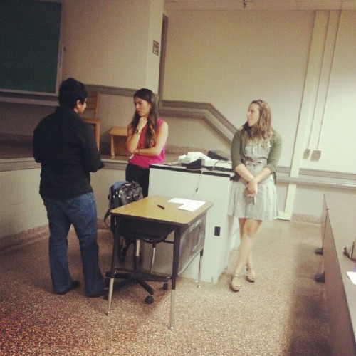 Preparing for the meeting! #threads #uncg  (Taken with Instagram)