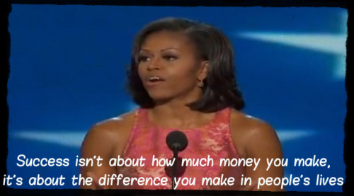 Michelle Obama is really amazing :)
