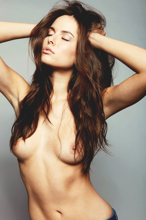 Gorgeous topless woman.