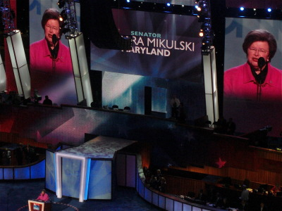 "MD Sen Barbara Mikulski killing it at the DNC  ""We women of the Senate, with President Obama by our side, we're going to keep fighting - our shoulders square, our lipstick on, because you deserve equal pay for your hard work."""