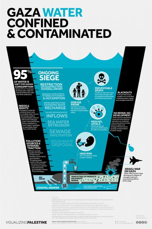 Gaza Water Confined & Contaminated: Visualizing Palestine's August infographic