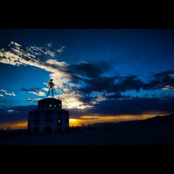 Burningman #brc #burningman #burningman2012 #blackrockcity #playa #sunrise #clouds  (Taken with Instagram)