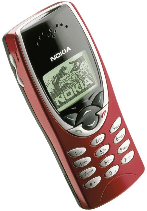 …and his Nokia 8210i!