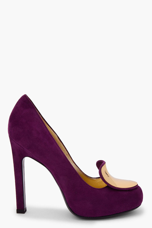 asthetiques:  YVES SAINT LAURENT - PURPLE SUEDE CATHERINE PUMPS.