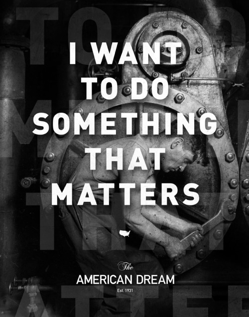 I Want to do Something That Matters