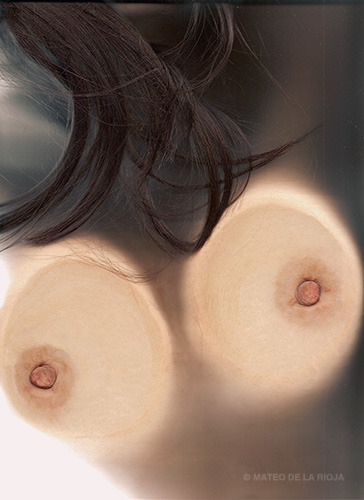 photo of breasts taken with a scanner