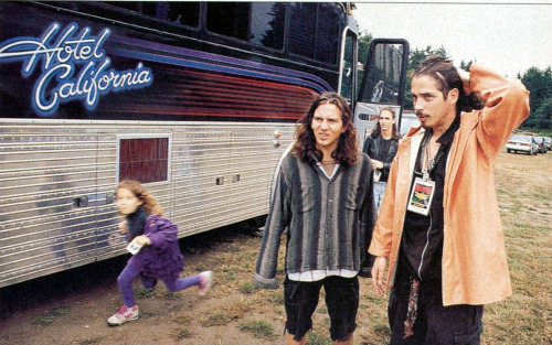 Eddie Vedder and Chris Cornell in 1992.
