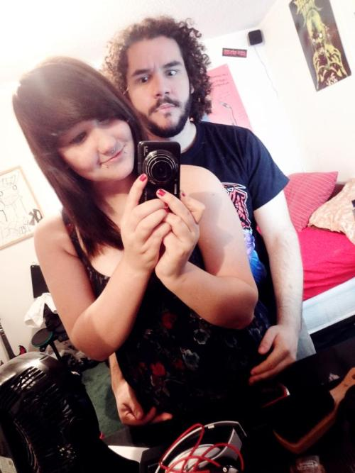 vomitchunk:  So this is my GORGEOUS girlfriend and I. She's pretty much the most amazing girl to enter my life okay. Good.
