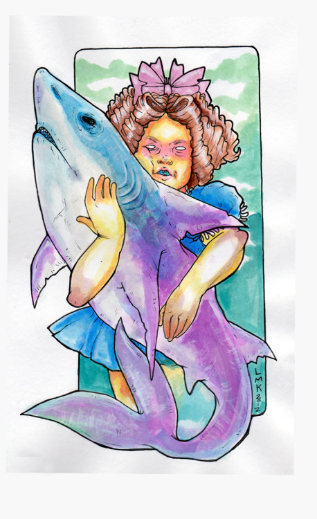 My Secret Pet Shark.Inks and Faber-Castell pens (and love). :)