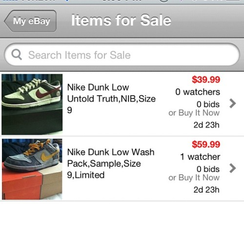eBay. Find me user ericesun #Nike #Jordans #Sneakerhead #NikeSB #NikeDunks #Ebay #Nikes #Dunks #DunkLow  (Taken with Instagram)