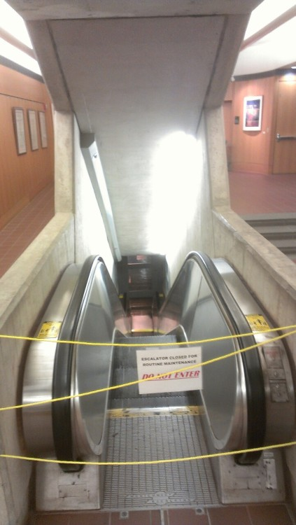 An escalator can never break.  It can only become stairs. ( via k-so )