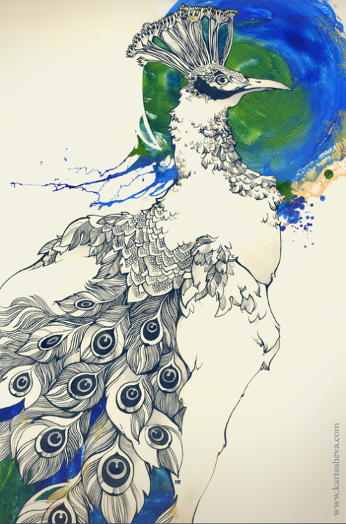 Ink drawings by Tetiana Kartasheva