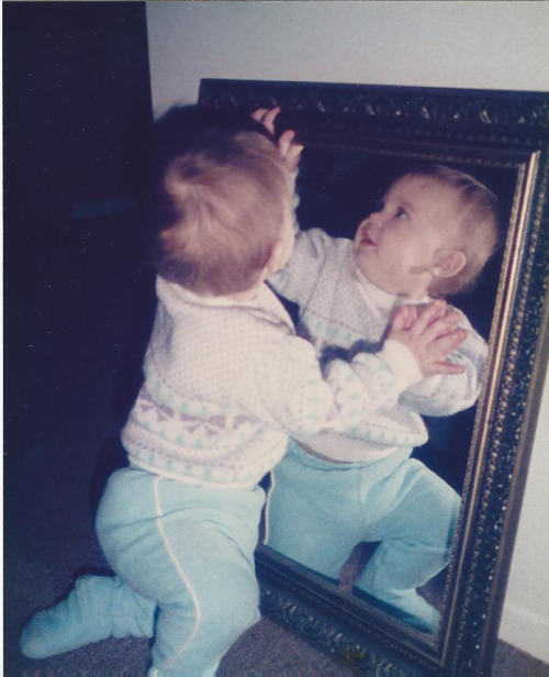 Mirror stage Just recently found this photo while looking through my baby book