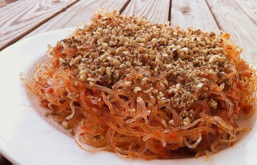 (Click here for recipe Raw Kelp Spaghetti with Almond Meat Crumble)