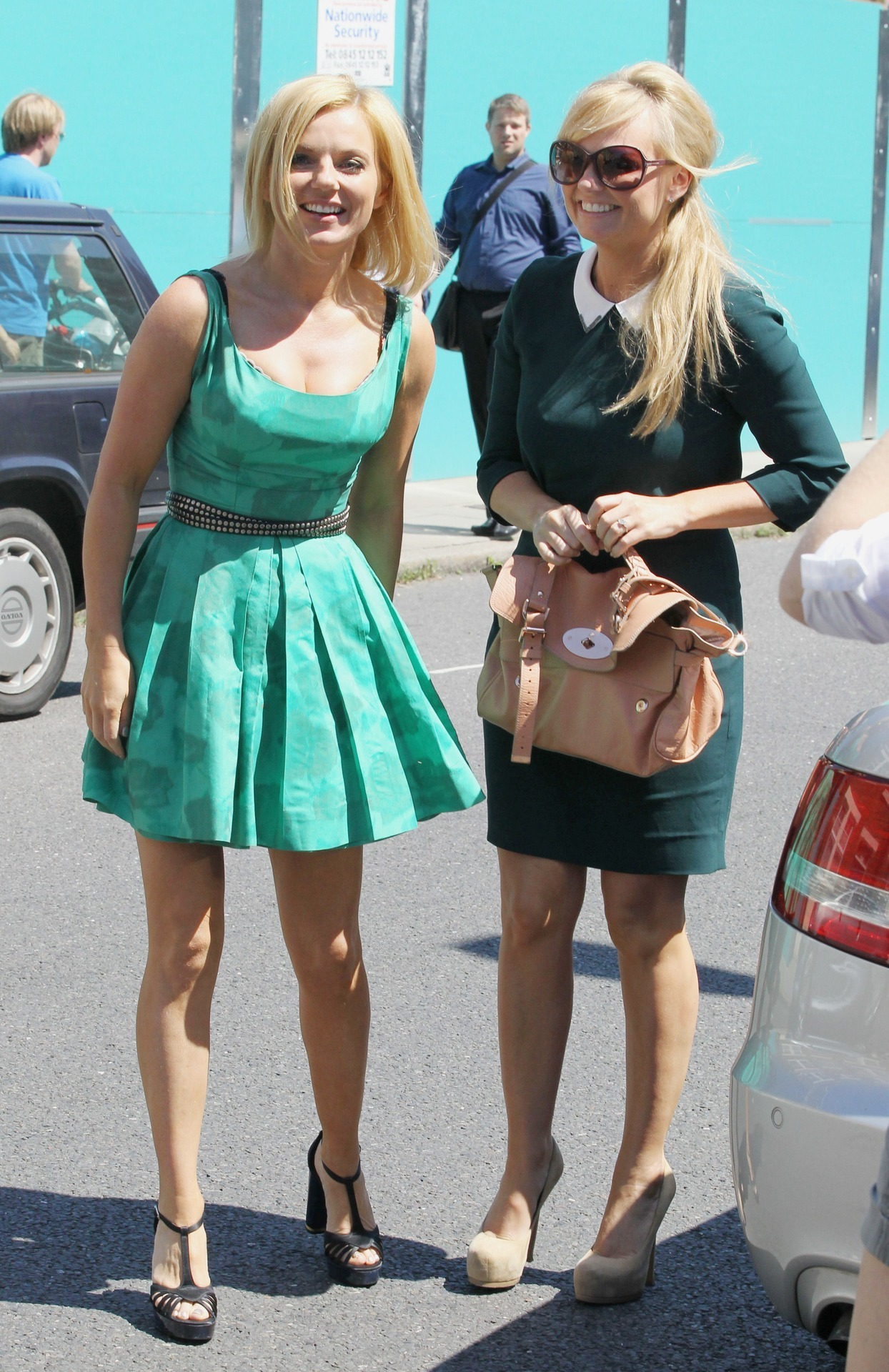 Geri Halliwell and Emma Bunton out in London, July 21st