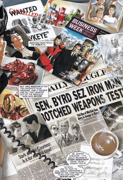brianmichaelbendis:  Marvel History In The HeadlinesFrom MARVELS by Alex Ross and Kurt Busiek