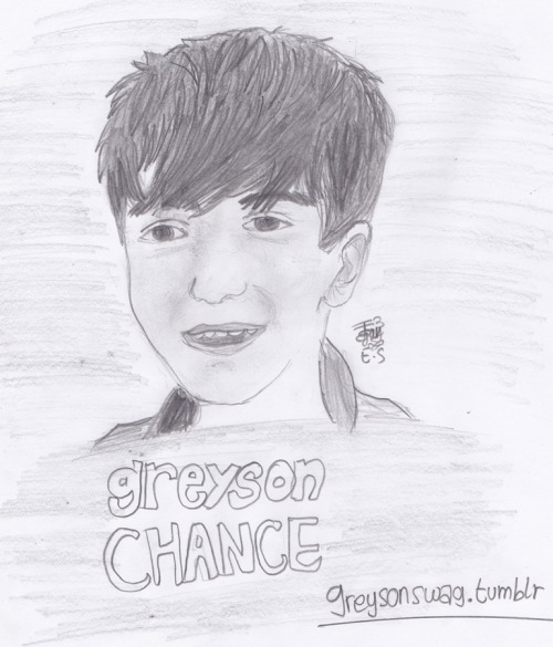 i can't draw :/ haha it doesnt look like greyson-_-