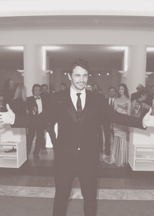 James Franco at the Spring Breakers Premiere today.