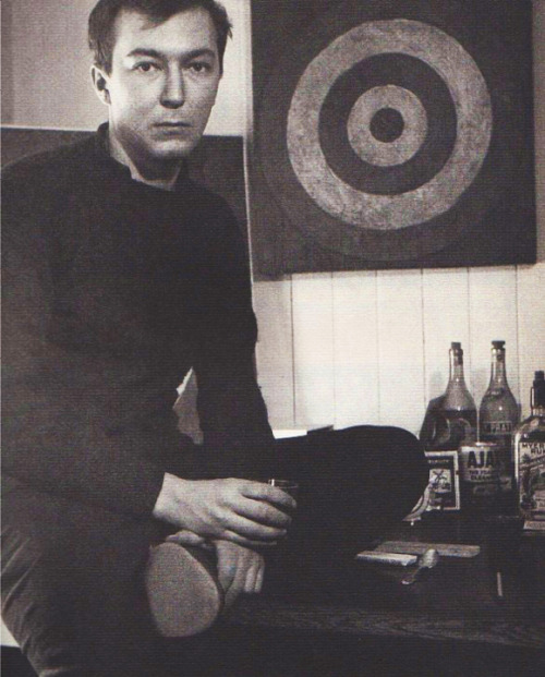 """JASPER JOHNS Infront Of ""Target"" Painting"", 1968  By: ROBERT RAUSCHENBERG…."