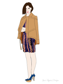 Fashion Week has begun, an illustrated favorite look from @10CROSBYDLNYC modeled by @IntoTheGloss Emily Weiss