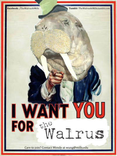 atotaldisarray:  Check out The Walrus Literary Journal!  Seriously, check it out. Best lit journal you will ever submit too (and I'm not that biased, I swear!)