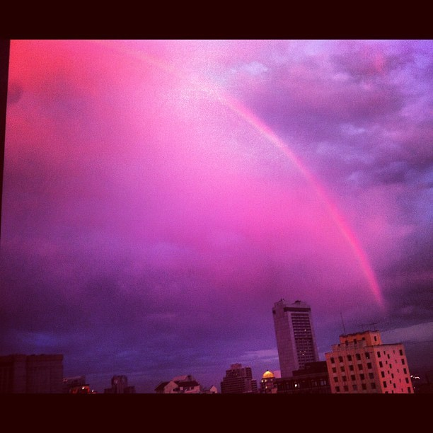 09.05.12 A giant San Francisco rainbow. Truly. and gorgeous clouds #photooftheday  #twiceasnice #rainbow (Taken with Instagram)
