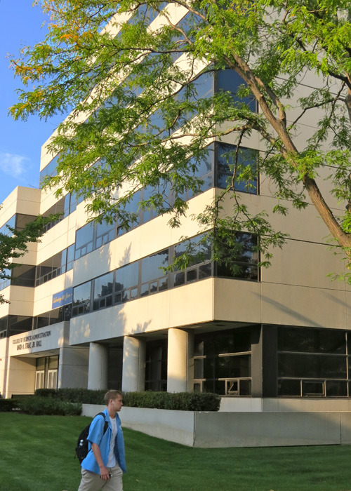 Straz Hall, home to Marquette University's College of Business Administration.