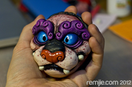 DOLLS FOR SALE! Foo Dog doll progress! It will be in the store for sale soon!