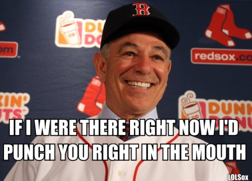 "WELL, I GUESS THERE'S SOME ""LIFE"" IN THESE RED SOX AFTER ALL"