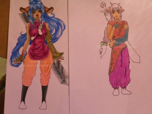 some art i did a couplel days ago. new vs.old